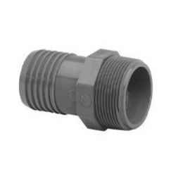 1.5IN MALE ADAPTER INS. GREY